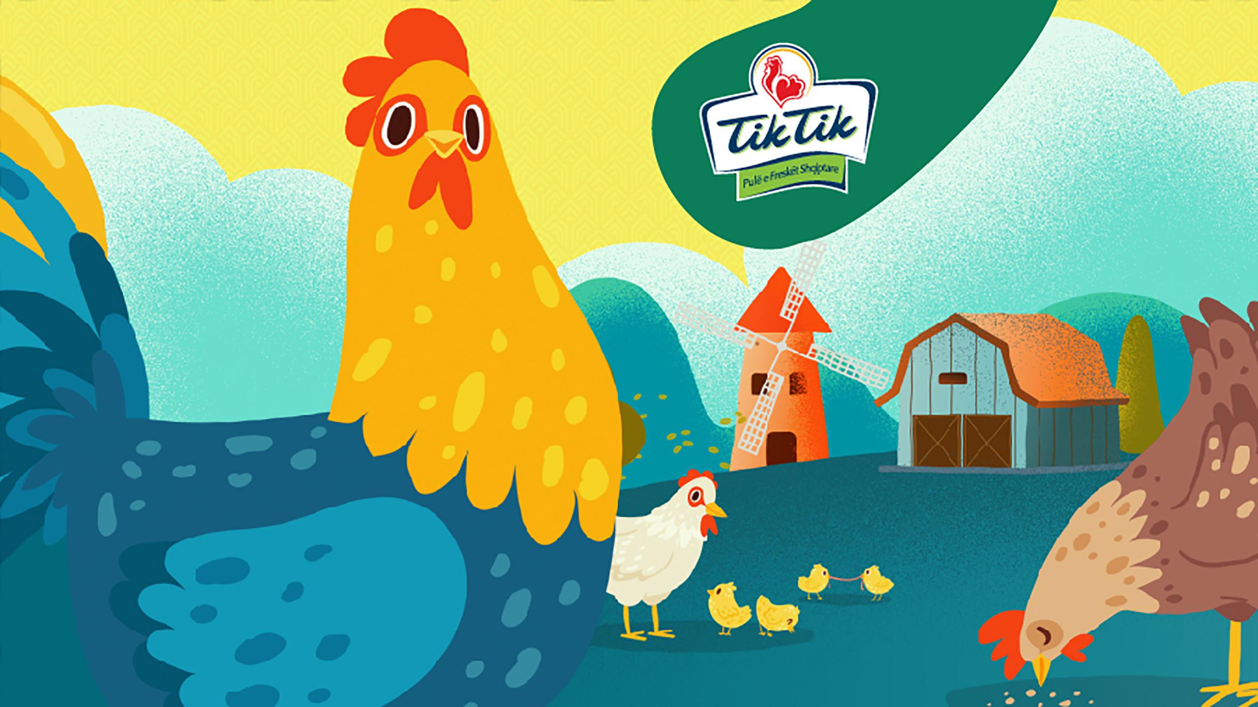 The biggest Albanian poultry producer, Tik Tik, chooses Vatra Agency as its social media agency.